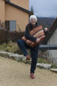Anita Grandjean chaussure rouge